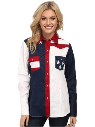WOMEN Roper - Pieced Stars and Stripes Patriotic