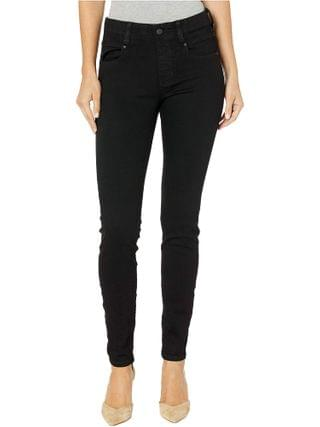 WOMEN Liverpool - Gia Glider/Revolutionary New Skinny Pull-On in Stretch Black Denim in Black Rinse