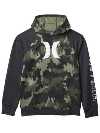 KIDS Hurley Kids - Dri-Fit Solar French Terry Icon Pullover Hoodie (Big Kids)