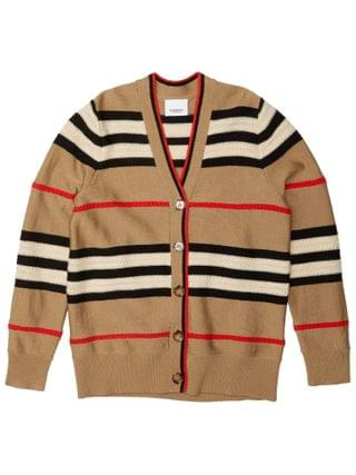 KIDS Burberry Kids - Stripe and Cable Cardi (Little Kids/Big Kids)