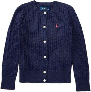 KIDS Polo Ralph Lauren Kids - Cable Knit Cotton Cardigan (Toddler)