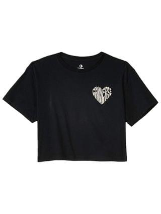 WOMEN Converse - Left Chest Heart Cropped Tee
