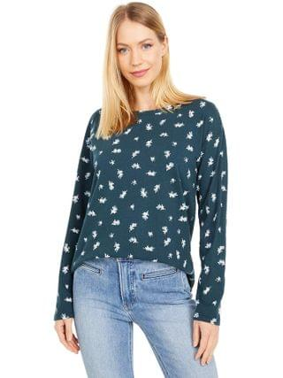 WOMEN Lucky Brand - Printed Easy Long Sleeve Tee