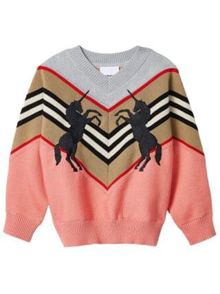KIDS Burberry Kids - Nadie Unicorn Knitwear (Little Kids/Big Kids)