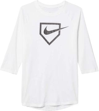 KIDS Nike Kids - Dry Swoosh Home Plate Tee (Little Kids/Big Kids)