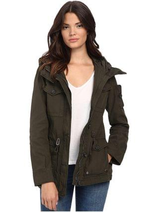 WOMEN Levi's - Washed Cotton Fashion Four-Pocket Military w/ Hood