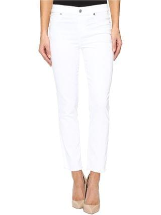 WOMEN 7 For All Mankind - Roxanne Ankle w/ Raw Hem in White Fashion
