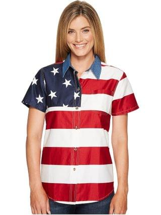 WOMEN Roper - S/S Stars and Stripes Pieced Flag