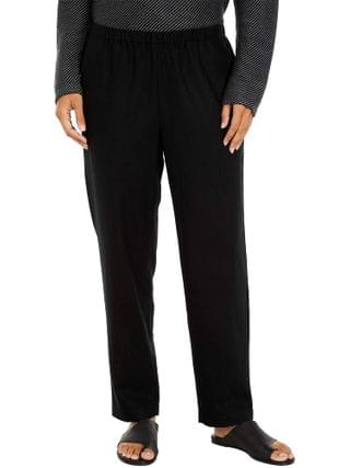 WOMEN Eileen Fisher - Wool Flannel Tapered Ankle Pants