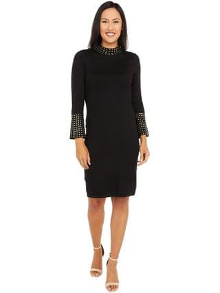 WOMEN Calvin Klein - Sweaterdress with Embellished Neck and Cuff