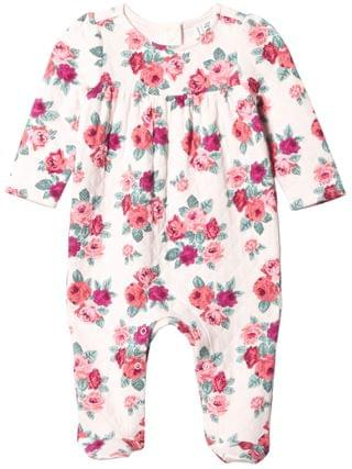 KIDS Janie and Jack - Floral Matelasse Footed One-Piece (Infant)