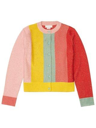 KIDS Stella McCartney Kids - Lurex Knit Cardigan with Stripes (Toddler/Little Kids/Big Kids)