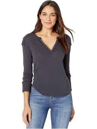 WOMEN Free People - Military Mix Henley