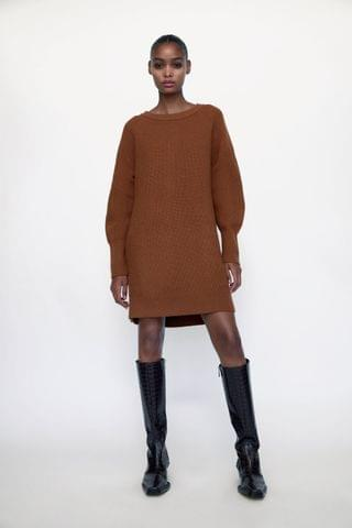 WOMEN KNIT MINI DRESS