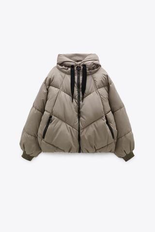 WOMEN HOODED PUFFER JACKET