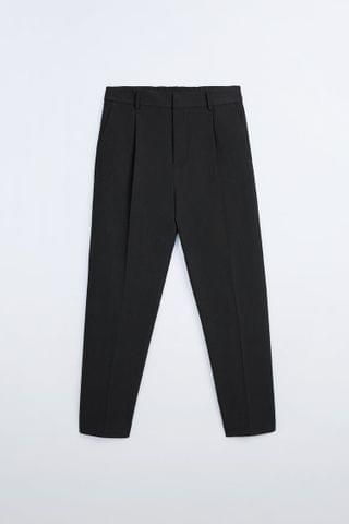 MEN TEXTURED TROUSERS WITH ELASTIC WAIST