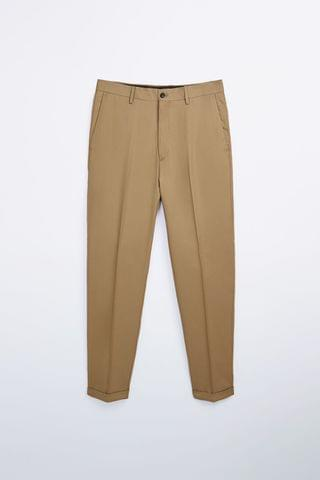 MEN TEXTURED TROUSERS