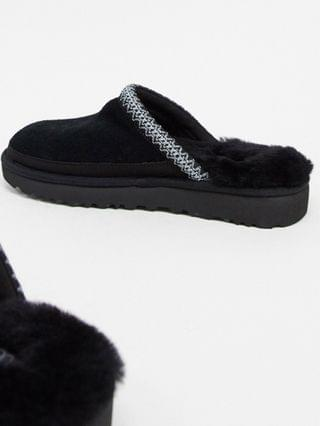 UGG tasman slip-on scuffs in black