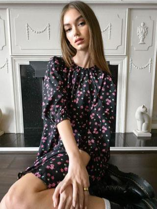 WOMEN Wednesday's Girl midi smock dress with tiered skirt in vintage floral