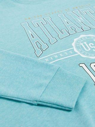 WOMEN New Look oversized Atlanta slogan sweatshirt in bright blue