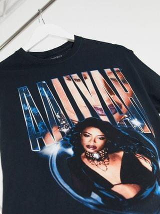 WOMEN Daisy Street relaxed t-shirt with aaliyah print