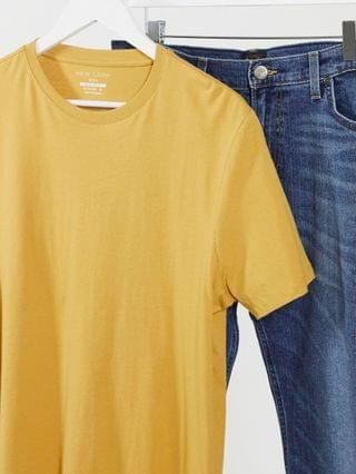 New Look crewneck t-shirt in yellow
