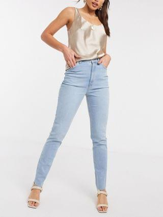 WOMEN Tall hourglass high rise farleigh 'slim' mom jeans in lightwash