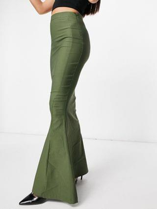 WOMEN Vesper Tall fishtail maxi skirt in khaki