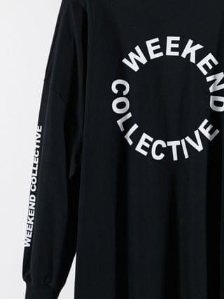 WOMEN Weekend Collective Curve oversized t-shirt with back logo in black