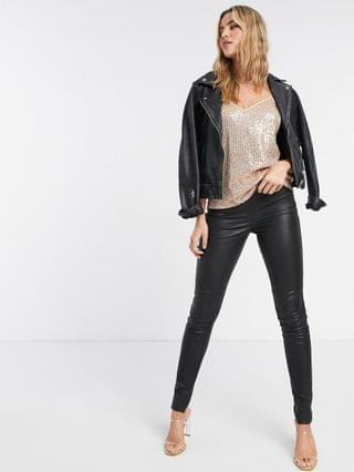 WOMEN Style Cheat sequin cami top in rose gold
