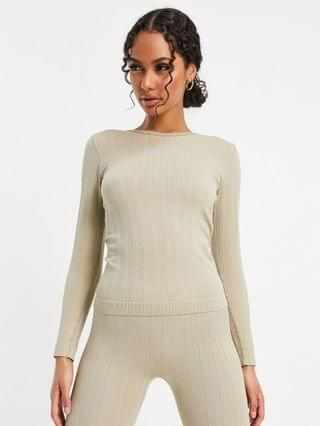 WOMEN 4505 ski cable knit base layer set in cosmetic