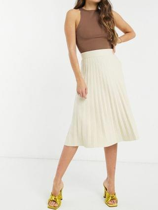 WOMEN Fashion Union knitted midi skirt