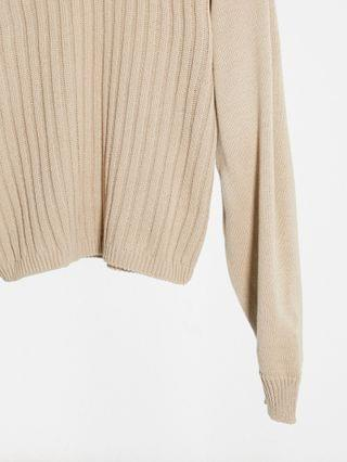 WOMEN In The Style x Lorna Luxe lullaby ribbed hoody in brown