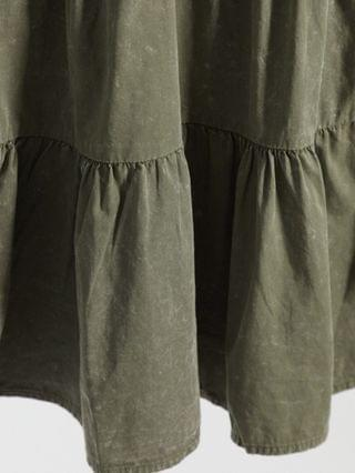 WOMEN Noisy May tiered smock dress in washed khaki