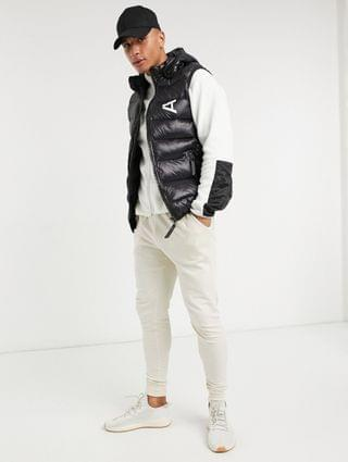 Arcminute printed puffer jacket in black