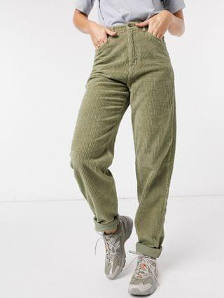 WOMEN Tall high rise 'slouchy' mom jeans in khaki cord