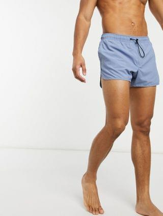 runner swim trunks in washed blue