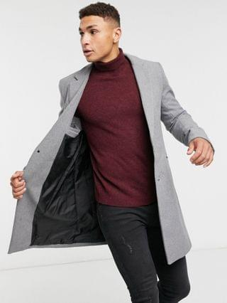 Only & Sons overcoat in gray