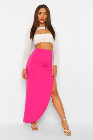 WOMEN VISCOSE MAXI SKIRT
