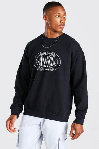 MEN Oversized Man Official Streetwear Print Sweat