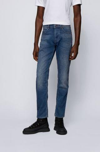 MEN Tapered-fit jeans in vintage-look knitted denim