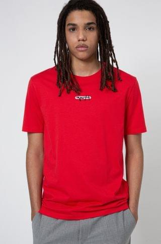 MEN Cotton-jersey T-shirt with new-season logo embroidery