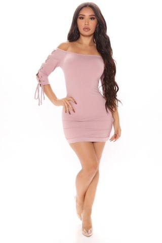 WOMEN Lexie Off Shoulder Mini Dress - Mauve