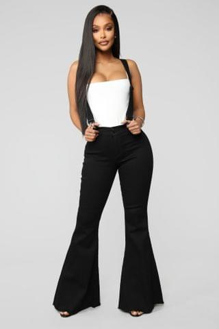 WOMEN Saved By The Bell Bottom Jeans - Black