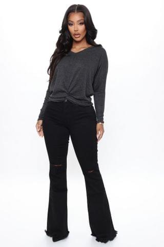 WOMEN Nothing But The Best Flare Jeans - Black