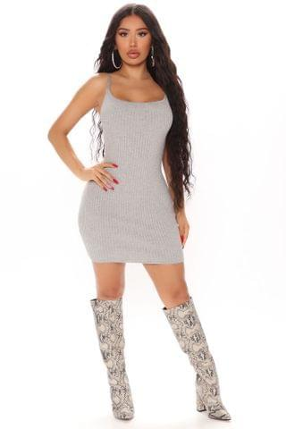 WOMEN Salina Sweater Mini Dress - Grey