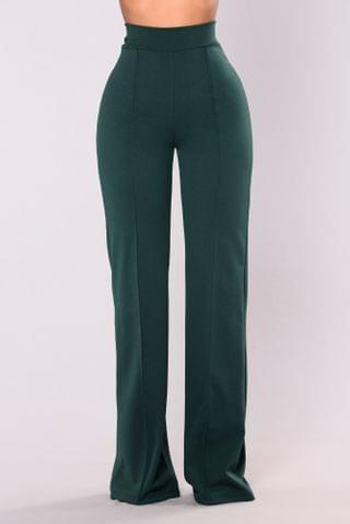 WOMEN Victoria High Waisted Dress Pants - Hunter Green