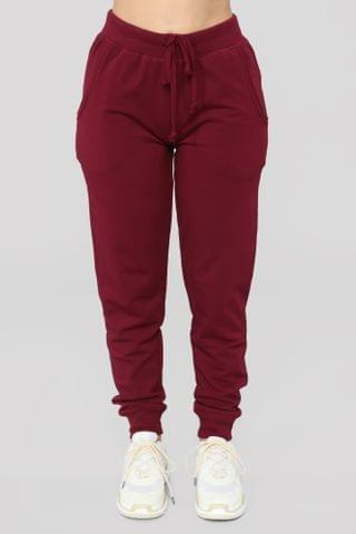 WOMEN Latest And Greatest French Terry Jogger - Burgundy