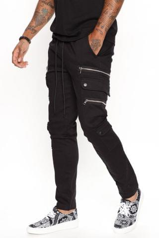 MEN Earn The Cred Cargo Pant - Black