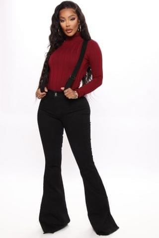 WOMEN Tall Saved By The Bell Bottom Jeans - Black